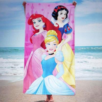 Toalha Praia Microfibra Princesas