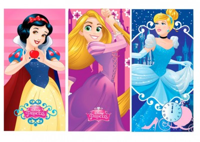 Toalha Princesas Disney Microfibra - sortido