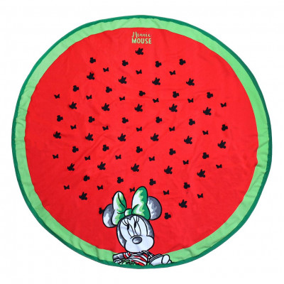 Toalha Redonda Minnie Microfibra