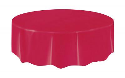 Toalha redonda vermelha