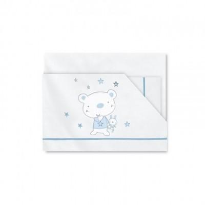 Ursinho Estrela azul - Jogo cama bebé 80x140cm