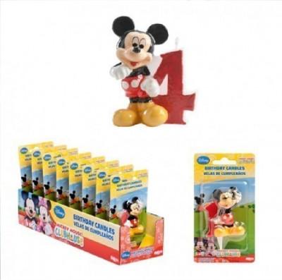 Vela aniversário Mickey 3D Nº4