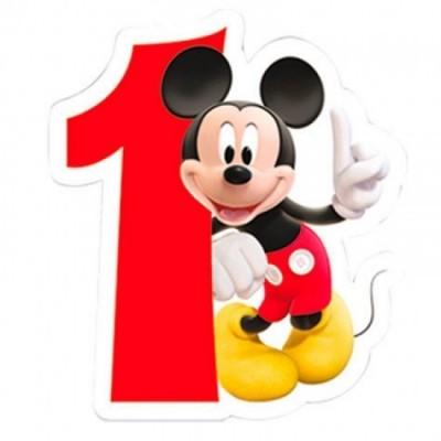 Vela aniversário Mickey Nº 1