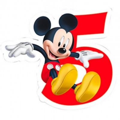 Vela aniversário Mickey Nº 5