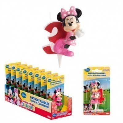 Vela aniversário Minnie 3D Nº3