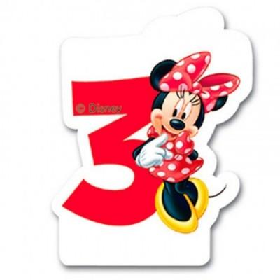 Vela aniversário Minnie Nº  3
