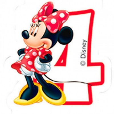 Vela aniversário Minnie Nº 4