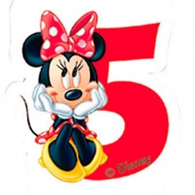 Vela aniversário Minnie Nº 5