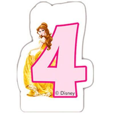 Vela aniversário Princesas Disney Nº 4