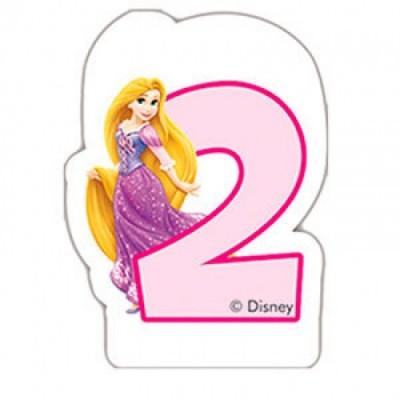 Vela de aniversário Princesas Disney Nº 2