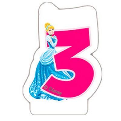 Vela de aniversário Princesas Disney Nº 3