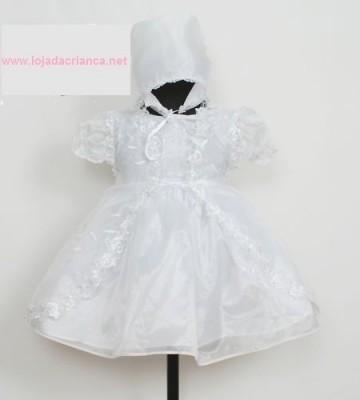 Vestido de Cerimónia 3 Pçs de Recém Nascido aos 9 meses