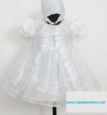 Vestido de Cerimónia 3 peças Recém Nascido aos 9 meses