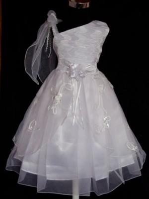 Vestido de Cerimónia para Menina Assimétrico