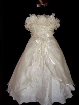 Vestido de Cerimónia para Menina Canelado
