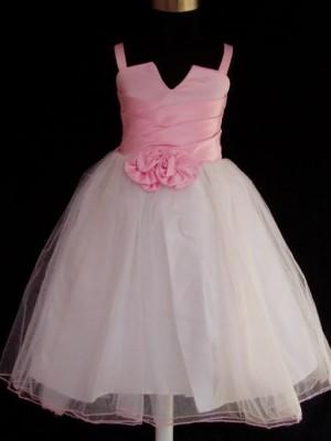 Vestido de Cerimónia para Menina Duas Flores