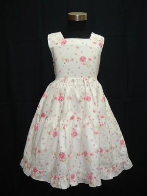 Vestido verão branco rosa Floral