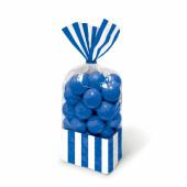 10 Bolsas Doces Riscas Azuis