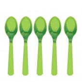 10 Colheres Plástico Verde Kiwi