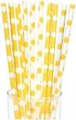 10 Palhinhas Amarelas Bolinhas