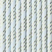 10 Palhinhas Papel Azul Claro