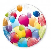 10 Pratos Grandes Balloon Party 23cm