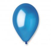 100 Balões Azul Metalizados 10 (26cm)