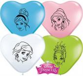 """100 Balões Coração Princesas Sortidos 6"""""""