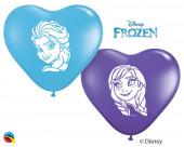 100 Balões Frozen Coração 6