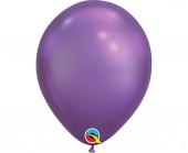 100 Balões Roxo Chrome 7''