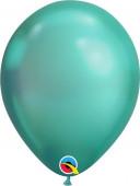 100 Balões Verde Chrome 7''