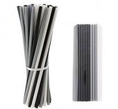 100 Palhinhas Plástico 3 Cores
