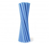 100 Palhinhas Plástico Azuis