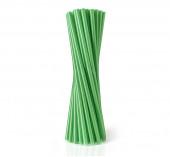 100 Palhinhas Plástico Verde