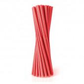 100 Palhinhas Plástico Vermelhas