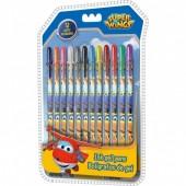 12 canetas gel Super Wings