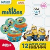 12 Discos Cupcakes Minions