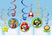 12 Espirais Decorativas Super Mário