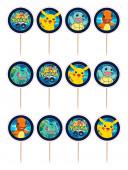 12 Mini Toppers Pokémon GO