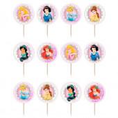 12 Mini Toppers Princesas Disney