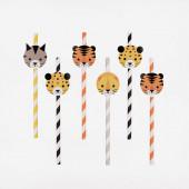 12 Palhinhas Papel Mini Felinos