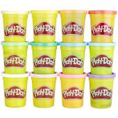 12 Potes Cores Pastel Play Doh