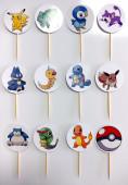 12 Toppers Pokémon Cupcakes