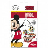16 Discos Cupcake Mickey Mouse