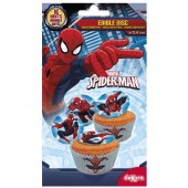 16 Discos Cupcake Spiderman