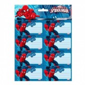 16 etiquetas adesivas Ultimate Spiderman