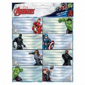 16 Etiquetas Autocolantes Avengers Marvel