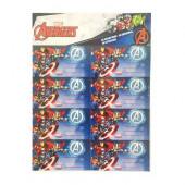 16 Etiquetas Autocolantes Avengers