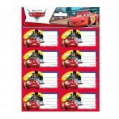 16 etiquetas autocolantes Disney Cars Tokyo