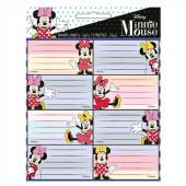 16 Etiquetas Autocolantes Minnie Disney